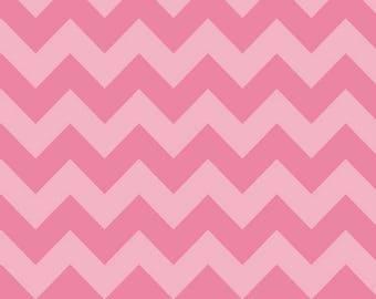 SALE  Chevron Hot PinkTone on Tone  Medium Cotton Fabric - Riley Blake Fabrics - 27 inch Remnant