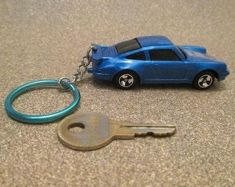 Porsche 911 keychain, 1968 Turbo Sports Car,llavero Keychain, Mens or Womens keychain, Mens or Womens gift schluesselanhaenger Stocking