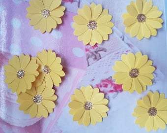 Sunflowers Table Confetti Sprinkles Gold Sparkly Centres Wedding Table Decoration 100