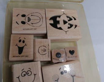 STAMPIN UP! Funny faces