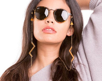 eyeglass chain, glasses chain, eyeglass holder with cool zig zag charm,  eyecatching and stylish look - featured by INSTYLE Germany