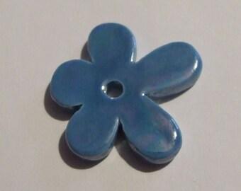 Turquoise flower ceramic 50 MM