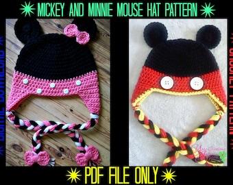 Mickey & Minnie Mouse Hat Crochet Pattern