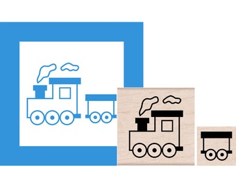 Train Set Rubber Stamps