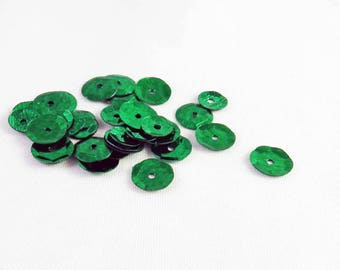ICI67 - Lot of 400 rhinestones green craft sewing sequins decorate Scrapbook