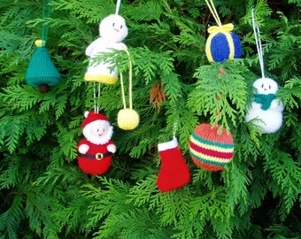 PDF Knitting Pattern - Mini Christmas Tree Trims