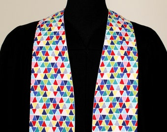 "Clergy Stole, Prism #173, Pastor Stole, Minister Stole, Multi-Colors, 54"" Length, Pastor Gift, Vestments, Church"