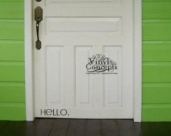 Hello. - Vinyl Wall Art