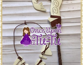 MemorialDaySale Maui Hook & Necklace. Maui pretend play. Moana dress up. Maui birthday. Moana birthday. Maui dress up. Birthday favors.