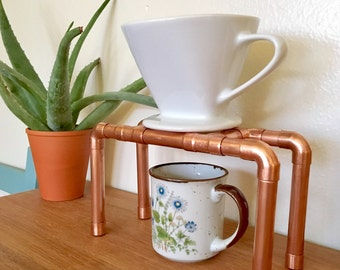 Copper Pipe Pour Over Coffee Stand