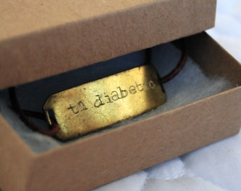 Personally Engraved Gold/Leather Bracelet