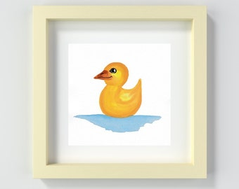 Duckling Painting Print, Ducky Painting, Cute Nursery Art, Playroom Wall Art, Baby Decor, Baby Boy, Baby Girl, Baby Shower, Duck Print
