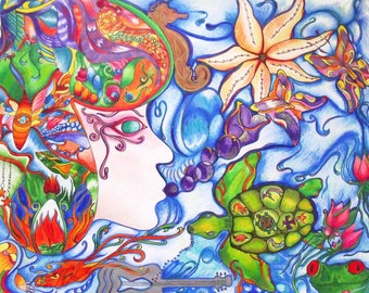 Sea of Dreams Original Drawing