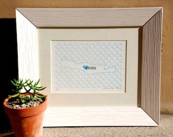 Crete Map - Limited Edition Letterpress Print