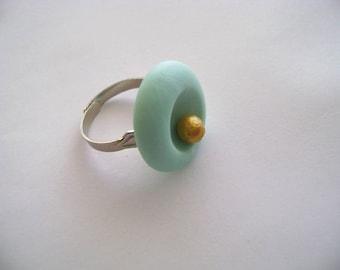 Handmade Adjustable Clay Ring