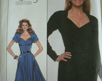 Misses Dress with Length and Fit Variations Size 12 Simplicity Christie Brinkley Collection Pattern 8905 Dated 1988