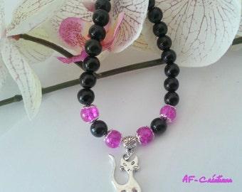 Black Fuchsia bracelet