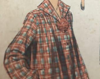 Rare Vintage 1950's Smock and Dress Pattern---Advance 5561---Size 14  Bust 32