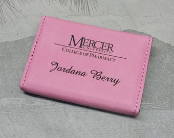 Business card cases etsy business card holder pink business card case gift for her bridesmaid gift colourmoves