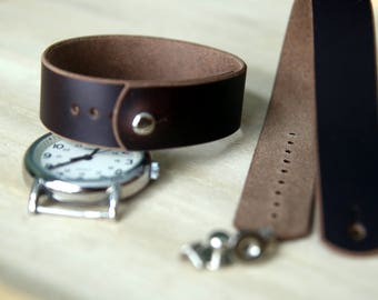 Leather watch strap for Timex Weekender - Horween Brown Chromexcel