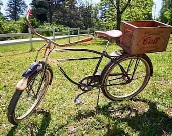Columbia Men's Cruiser - Vintage Beach Cruiser - 50s Columbia Bicycle - Vintage Bike