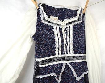 Sweet Gunne Sax Jeunes Filles Boho Prarie Jessica McClintock Dress - Girl's Size