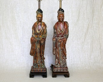 1940s Quan Yin Table Lamps by Frederick Cooper - A Pair