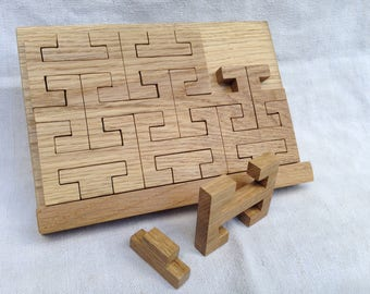 Japanese inspired with support oak puzzle