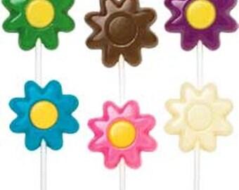 Pretty Flower chocolate Lollipops