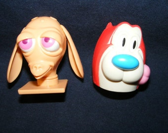 Ren & Stimpy Candy Containers, Candy Dispensers, Nickelodeon, Candy Container, Dispensers, Container,
