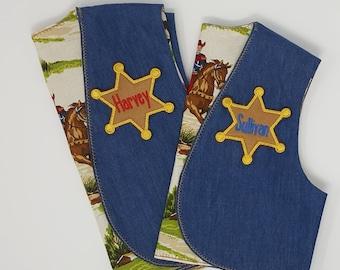 Child's Personalized Sheriff Vest, Cowboy Vest