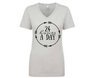 24 Hours A Day. Spiritual Shirt. One day at a time. Spirituality. Inspirational Clothing. Bible. Spirit Junkie. Inspiration. Work Out. #112