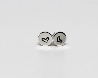 Sweet Heart Studs // Sterling Silver