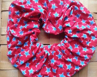 Patriotic hair scrunchie