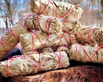 Organic White Sage Bundle - Sold Individually - Mini Size - Native American - Smudge Stick - Sage Wand - Cleansing - Removing Negativity