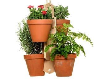 Handmade 4 Pot Plant Holder