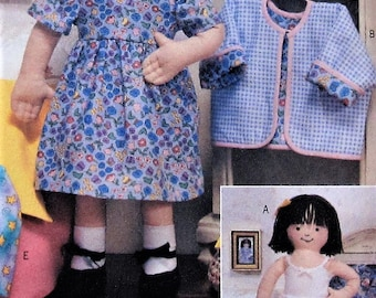 Maggie Doll and Clothes Sewing Pattern UNCUT Butterick 3490