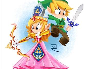 Link & Zelda - Small print