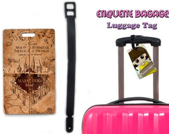 harry potter marauder's map -  #1-019 - luggage tag name
