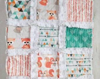Fox Minky Rag Quilt