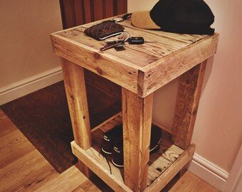 Rustic Reclaimed Side Table