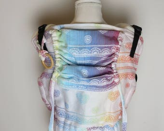 Baby carrier - SSC - Soft structured baby carrier - Full buckle carrier - Lenny Lamb lace - Baby shower gift