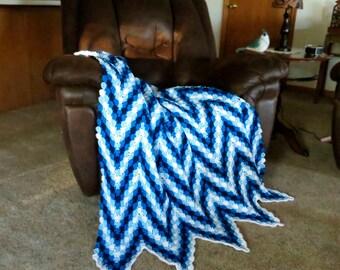 Crochet Pattern ~ Jazzy Blues Afghan Crochet Pattern
