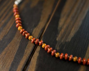 Red & Yellow Jasper Necklace