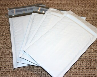 40 8.5 x 12 Size #2 White Poly Bubble Mailers Padded Self Sealing Shipping Envelopes