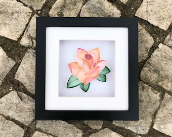 La Vie En Rose Quilling Art - Gift for Mother, Home Decor, Rose Unique, Rose Wall Art, For Her, Paper Anniversary, Rose Art and Collectible