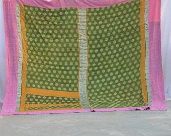 Kantha Vintage roi K0056 du plage couverture du couvre-lit Kantha Quilt Gudri réversible jeter Ricard couvre-lit literie en Inde