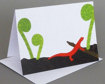 Red Eft: A nature inspired blank notecard, Vermont, spring