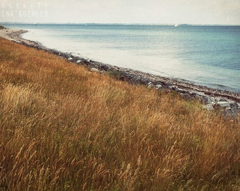 BALTIC SEA photography print, dreamy beach photography,  8x12