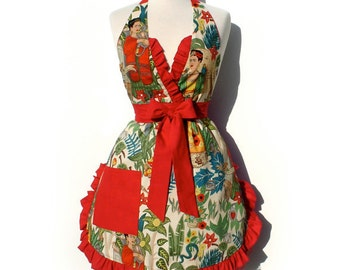 Frida mexican Inspired  Apron